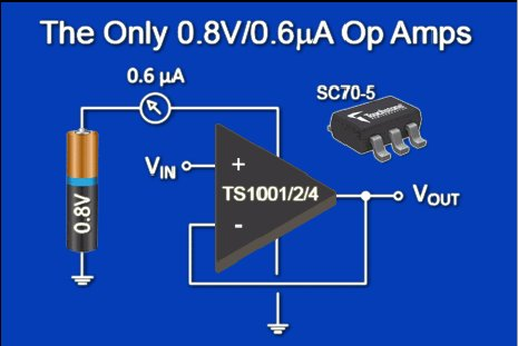 Rail-to-rail operational amplifiers cut power requirements ...