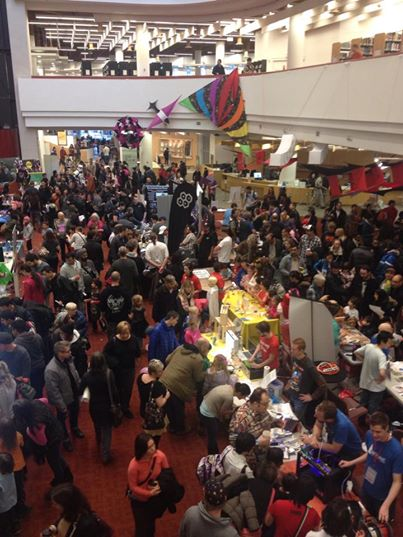 The Toronto Mini Maker Faire 2014 was held at the Toronto Reference Library.