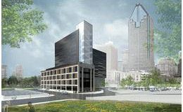 Artist's rendering of the next-generation data centre that is under construction in downtown Montral.