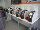 Some of Schleuniger's more popular selling wire stripping units.