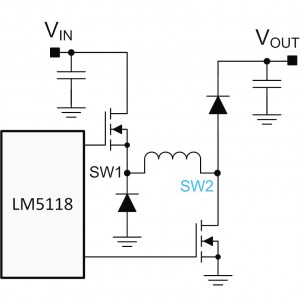 Figure 7. Two-switch, single inductor buck-boost.