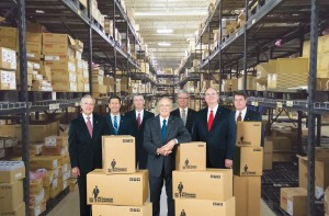 TTI Executive Team: from left to right are Nick Kypreos, Sr VP & CFO; Don Akery, Sr. VP global business operations; Scott Slack, VP & controller; Paul Andrews, CEO; Tom Vanderheyden, VP sales, Americas; Mike Morton, president, global sales & marketing; Michael Knight, Sr VP, product and marketing, Americas.
