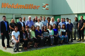 The Weidmuller Canada team members from the National Headquarters in Markham, Ontario gathered on October 13th, 2015 to celebrate 40 years of customer service and sales excellence.
