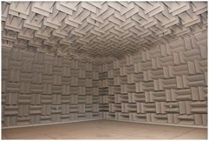 Interior of Eckel anechoic chamber at the CCPV.