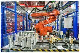 Jabil Fig 3 robotic arm on assembly line