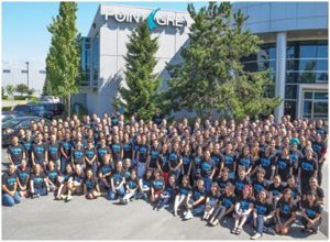 Point Grey Research Team Members in Front of Head office in Richmond, BC.