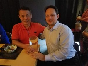 From left to right, Jerry Lin, president of Mean Well USA and Jamil Nizam, president of Master Electronics.